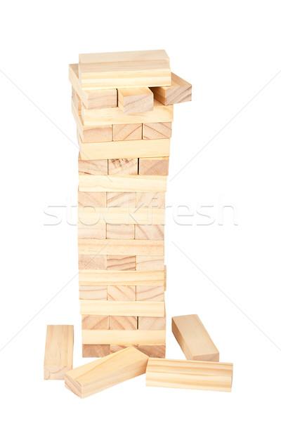 Collapsed wooden blocks tower  Stock photo © Taigi