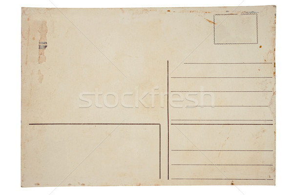 Reverse side of an old postal card Stock photo © Taigi