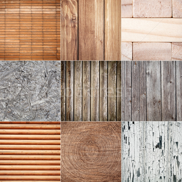 Collection of wood textures Stock photo © Taigi