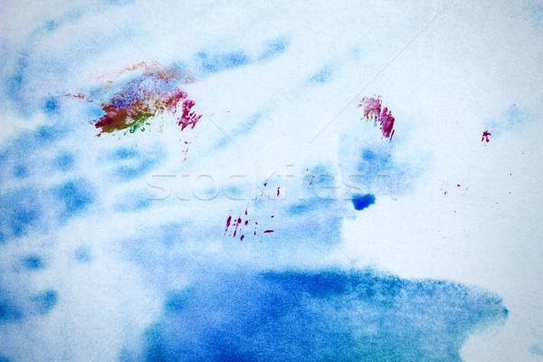 Streszczenie niebieski magenta makro shot Zdjęcia stock © Taigi
