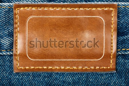 Foto stock: Jeans · etiqueta · isolado · branco · moda · abstrato