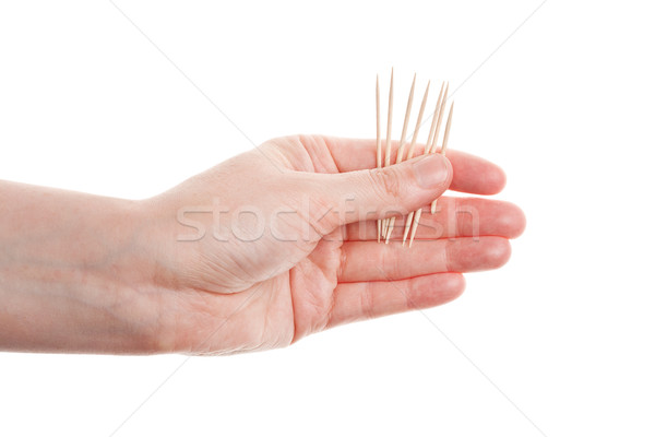 Mano aislado blanco jugar juego dedo Foto stock © Taigi