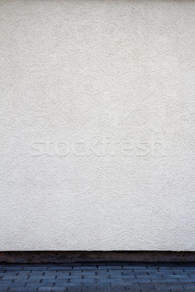 ストックフォト: 現代 · 白 · 石膏 · 通り · 壁 · 都市