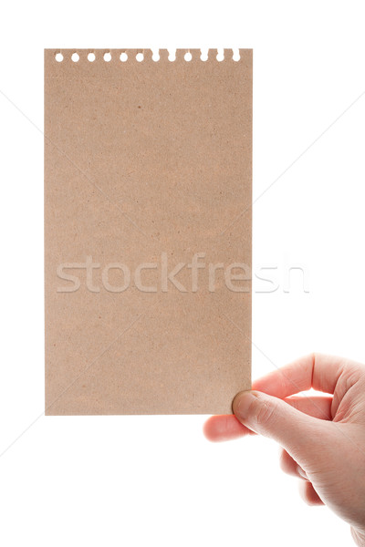 Stock photo: Handmade paper card in woman hand