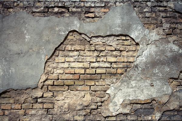 Stockfoto: Oude · muur · textuur · detail · gebarsten · papier