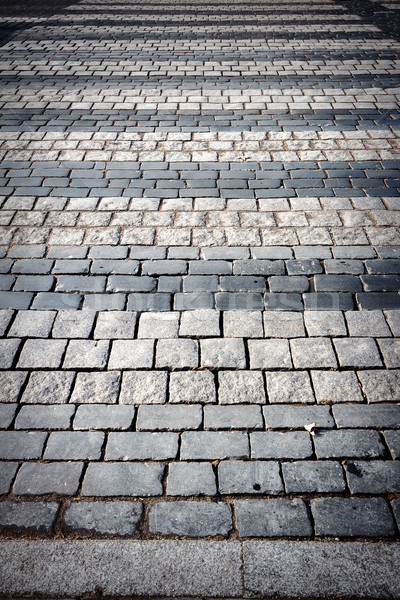 Gyalogos járda macskakő út absztrakt utca Stock fotó © Taigi