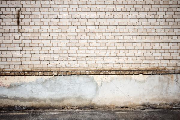 белый кирпичная стена сторона ходьбы стены синий Сток-фото © Taigi