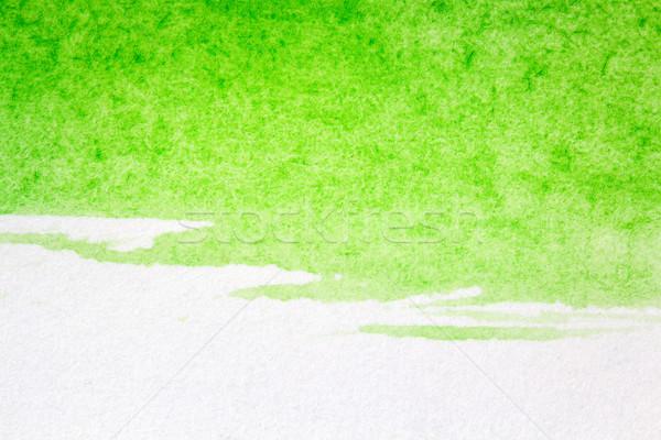 аннотация искусств рисованной зеленый акварель воды Сток-фото © Taigi