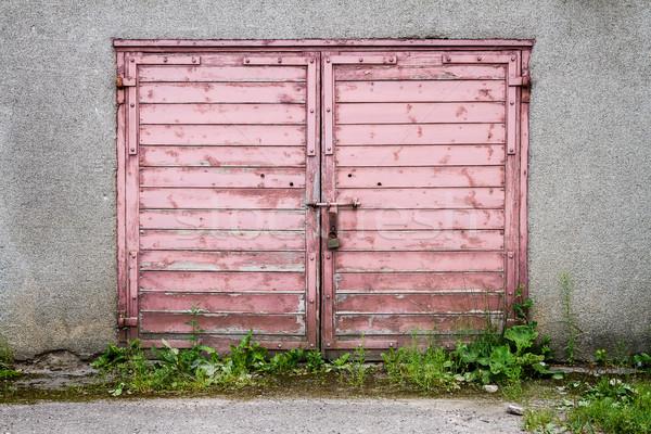Edad puerta sucio gris pared Foto stock © Taigi