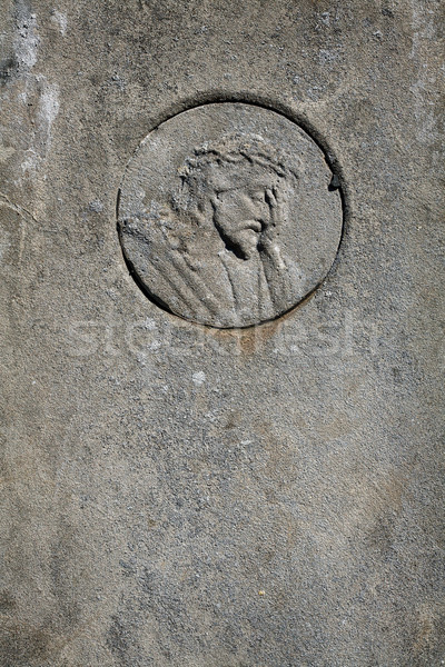 Jesus cristo cara cimento túmulo pedra Foto stock © Taigi