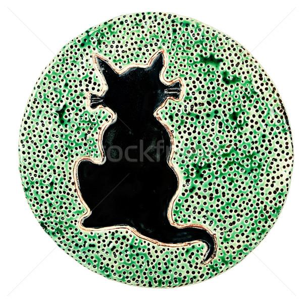 Handmade ceramic table coaster Stock photo © Taigi