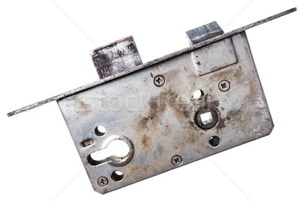 Stock fotó: öreg · ajtó · zár · közelkép · lövés · izolált