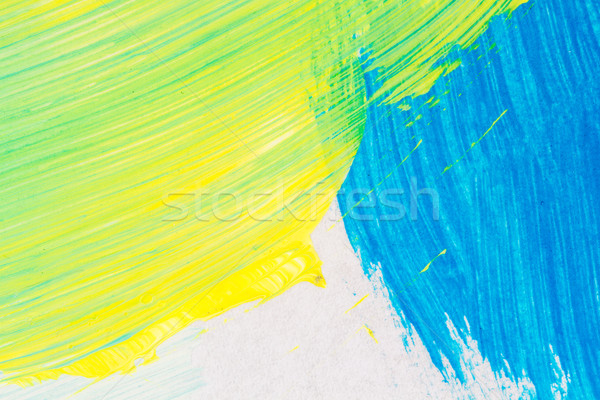 Stockfoto: Abstract · kunst · hand · geschilderd · Blauw · Geel