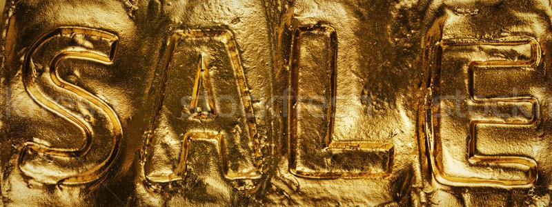 Parola vendita lucido tessitura oro vernice sfondo Foto d'archivio © Taigi