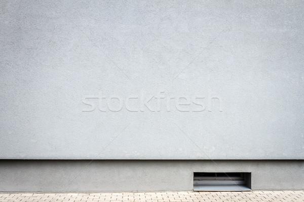Moderno luz azul gesso parede pequeno porão Foto stock © Taigi