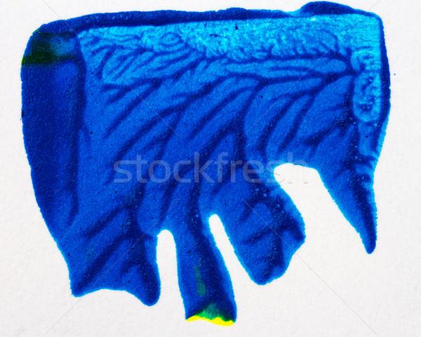 Absztrakt művészetek kézzel rajzolt kék szín akril Stock fotó © Taigi