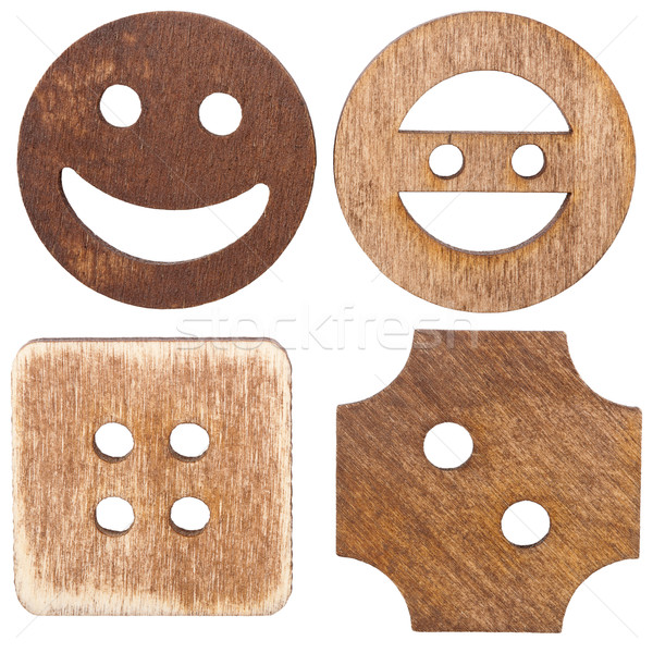 Stock photo: Wooden buttons