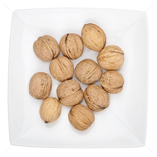 Stockfoto: Plaat · geïsoleerd · witte · voedsel · natuur · gezondheid