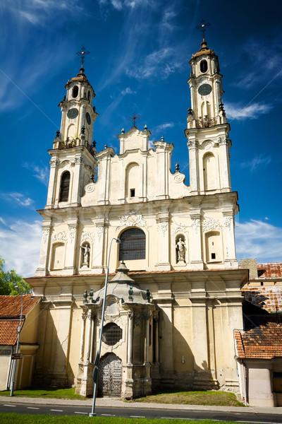 Küldetés templom elhagyatott öreg Vilnius Litvánia Stock fotó © Taigi