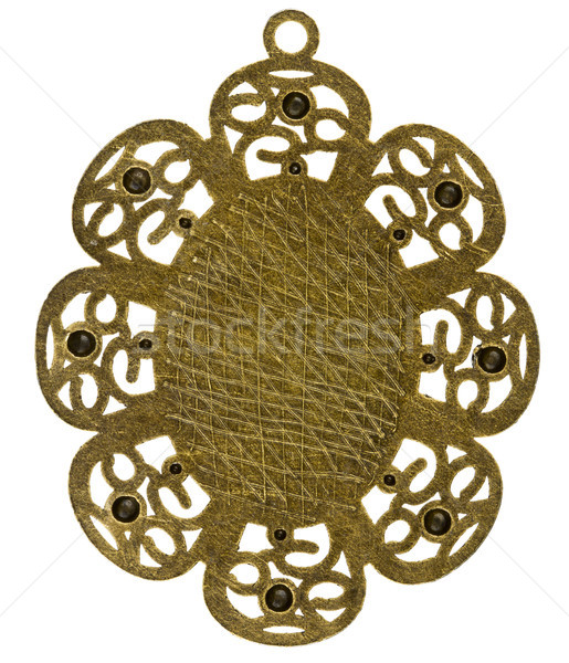 Reverse side of brass pendant Stock photo © Taigi