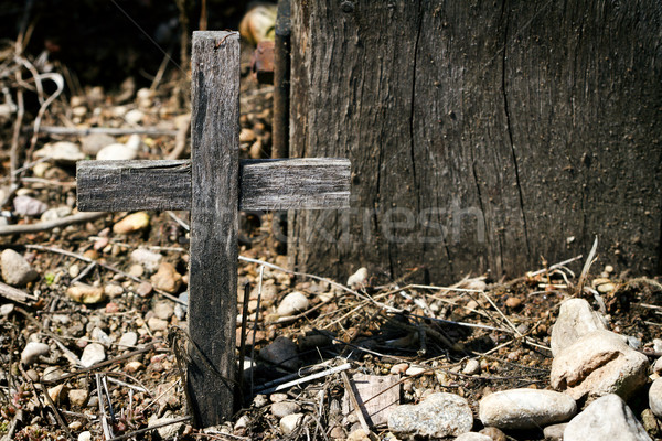Colina cruzes tiro atravessar famoso Foto stock © Taigi