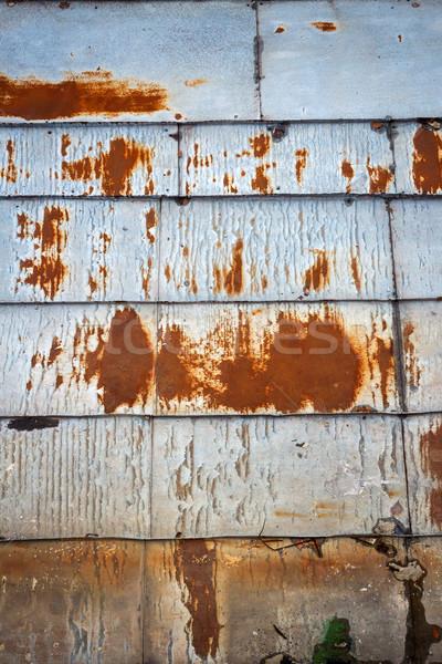 старые ржавые олово крыши текстуры стены Сток-фото © Taigi