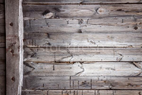 クローズアップ 古い木材 テクスチャ 建設 壁 ストックフォト © Taigi