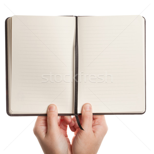Opened book in hands Stock photo © Taigi