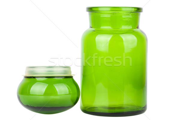 Green glass chemical bottle Stock photo © Taigi