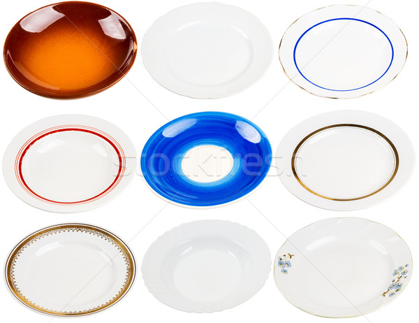 Collection of old plates Stock photo © Taigi