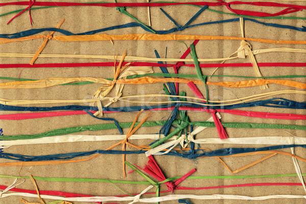 Colorful paper weave Stock photo © Taigi