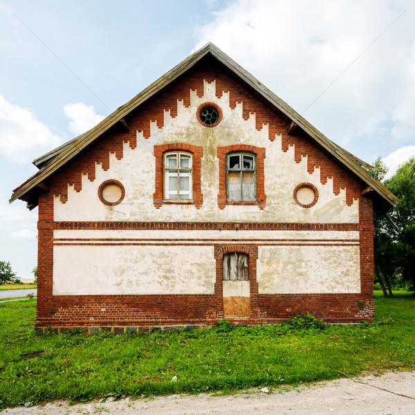 Abandonado casa velho Lituânia céu textura Foto stock © Taigi