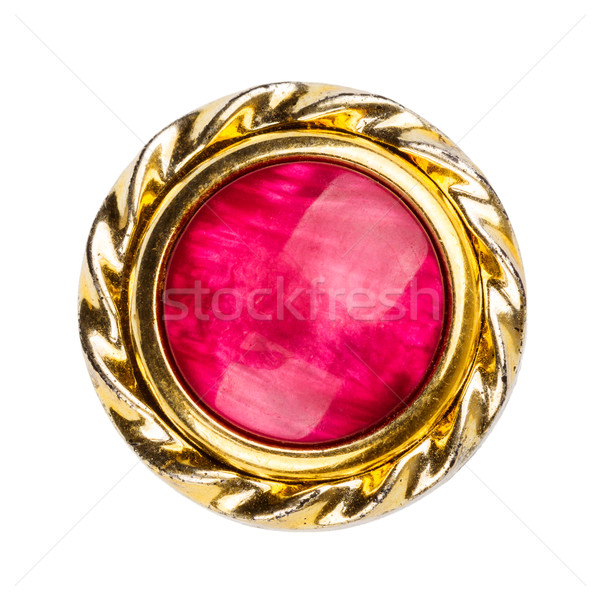 Old gold and red colors brooch  Stock photo © Taigi