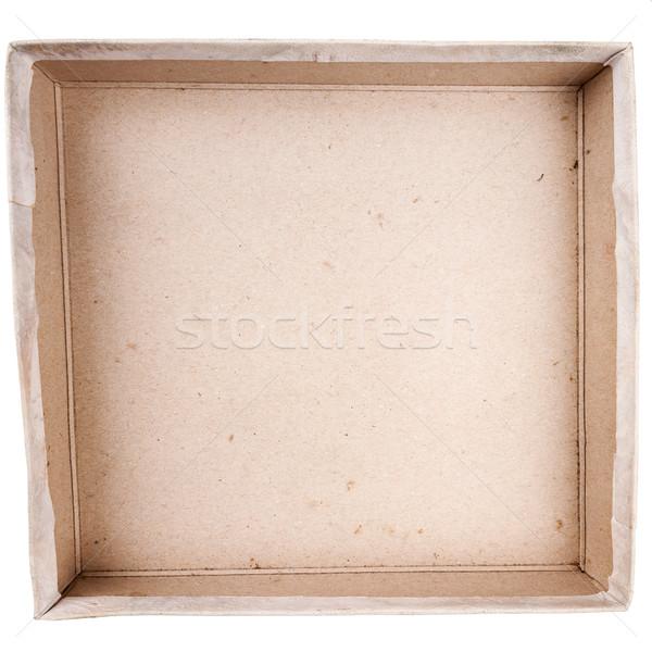 Top view of carton box Stock photo © Taigi