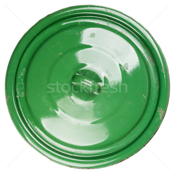 Old grungy green cooking pot lid  Stock photo © Taigi