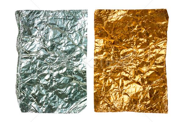 Two crumpled pieces of aluminum foil  Stock photo © Taigi