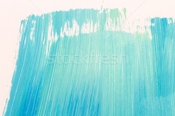 Abstract cyan hand painted background Stock photo © Taigi