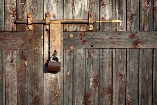 Old grunge door lock   Stock photo © Taigi