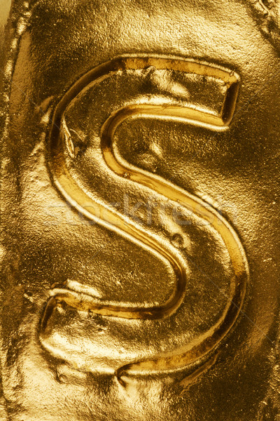 Golden letter S Stock photo © Taigi