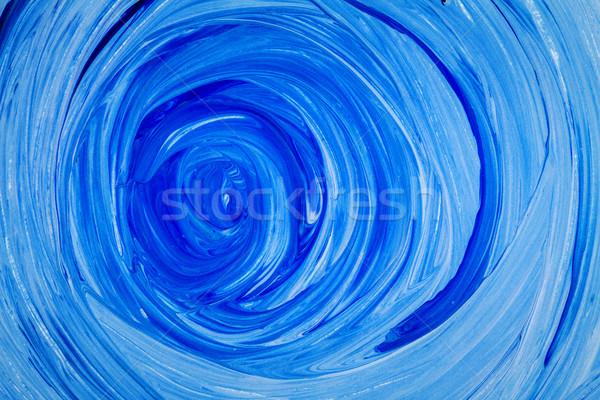 Résumé acrylique peinture main peint bleu Photo stock © Taigi