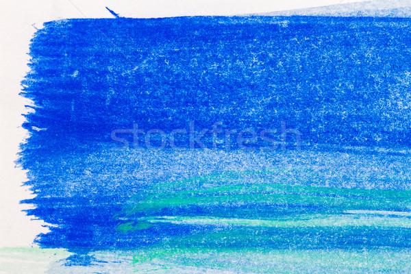 Сток-фото: аннотация · искусств · рисованной · синий · зеленый · акварель