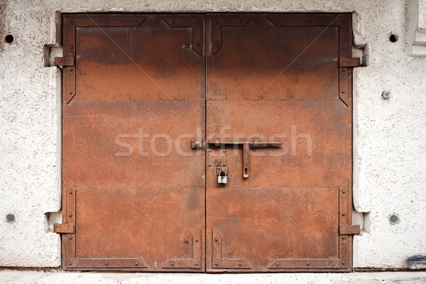 Old rusty metal gate Stock photo © Taigi
