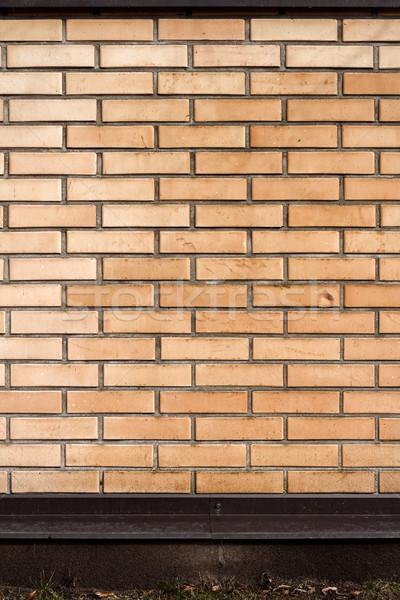 Wibrujący żółty cegły ogrodzenia nowoczesne obraz Zdjęcia stock © Taigi