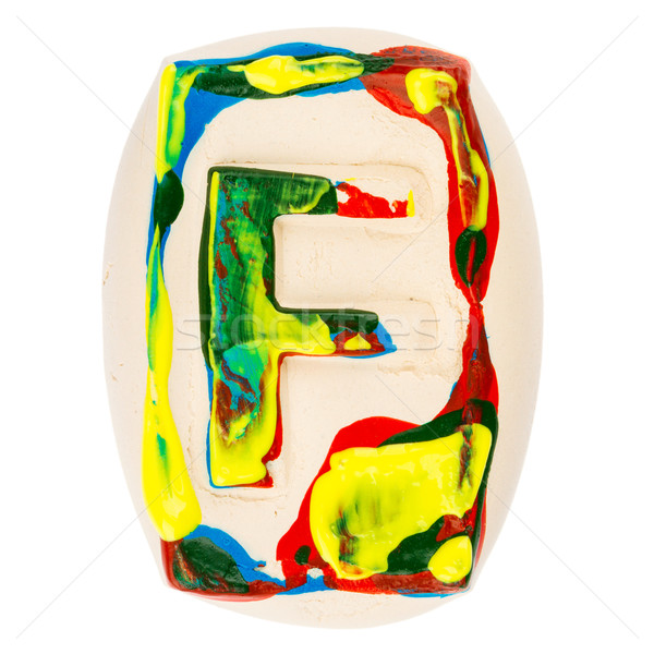 Colorful handmade of white clay letter F Stock photo © Taigi