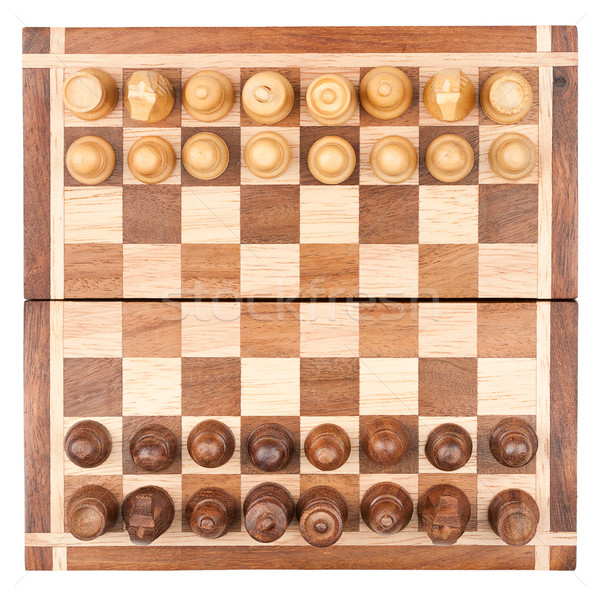 Chess board with all pieces Stock photo © Taigi