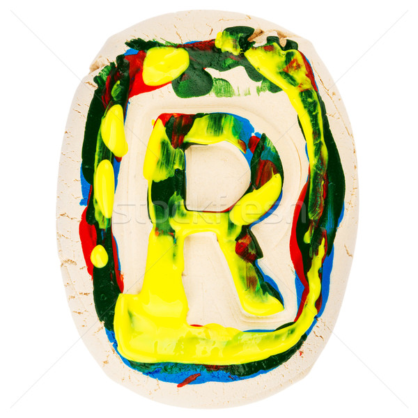 Colorful handmade of white clay letter R  Stock photo © Taigi