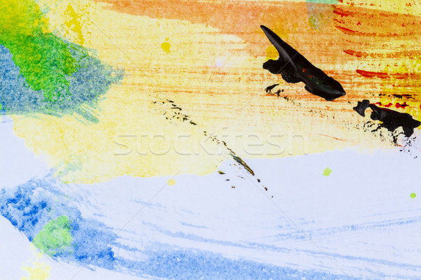 Absztrakt művészet közelkép kilátás kéz festett Stock fotó © Taigi