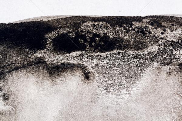Resumen negro acuarela mano pintado textura Foto stock © Taigi