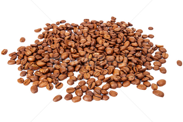 Stock photo: Pile of roasted coffee beans