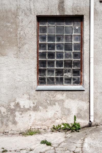 ストックフォト: 具体的な · 壁 · ガラス · ウィンドウ · 地上 · アーキテクチャ